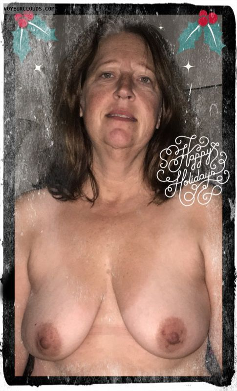 Mature, Slut, Saggy tits, Holiday