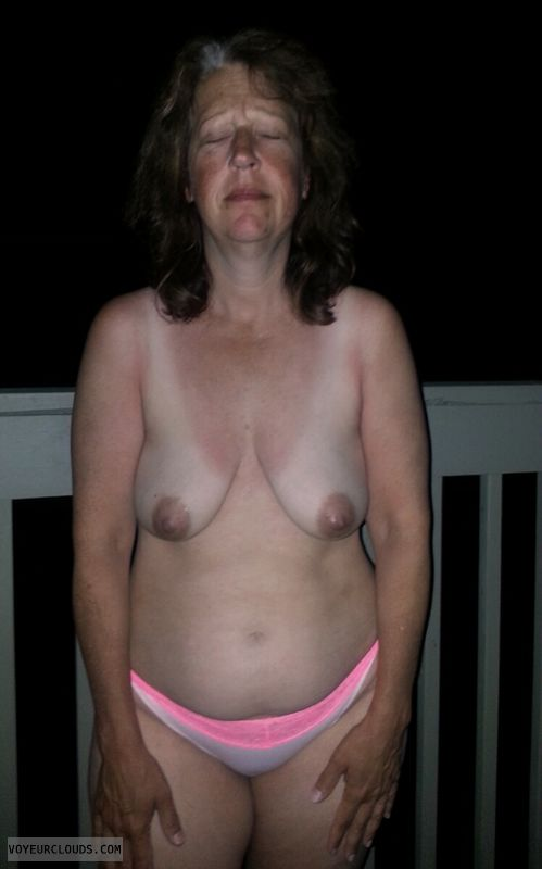Exhibitionist, Mature, Saggy tits, Slut, Dark nipples