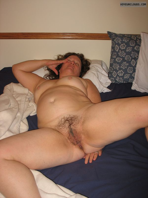pussy, hairy pussy, MILF, mature, breasts, nipples