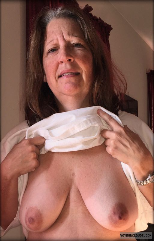 Mature, Slut, Saggy tits