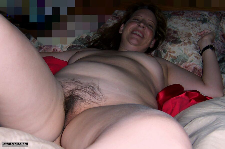 Mature, Slut, Hairy pussy, Sexy smile