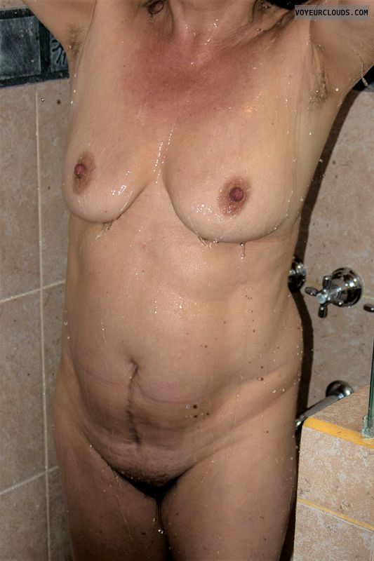 nude wife, small tits, legs, hairy pussy, feet, naked wife