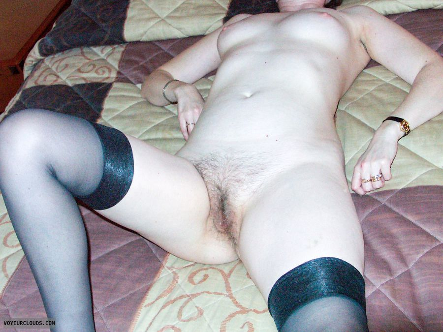 Naked, pussy, hairy pussy, small tits, hairy slit