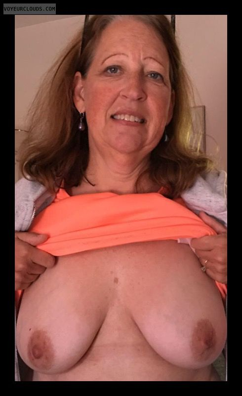 Mature, Slut, Big boobs, Sexy smile, Dark nipples