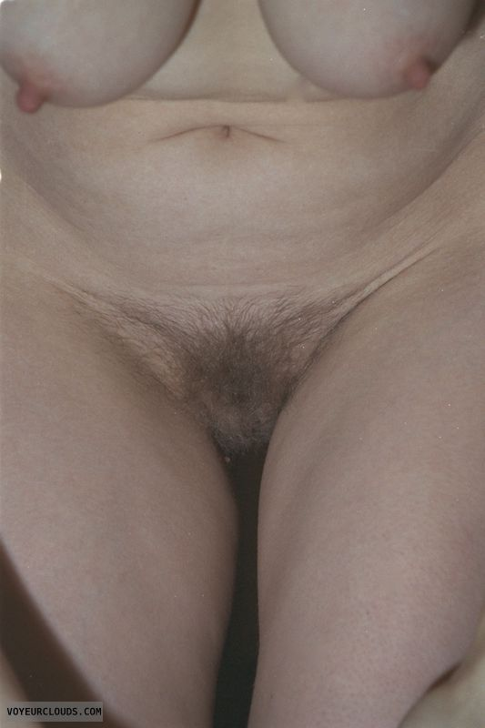 hairy pussy, bush, hard nipples, nude wife