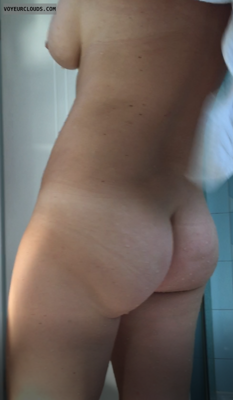 wife, shower, nude, ass, wet, bathroom