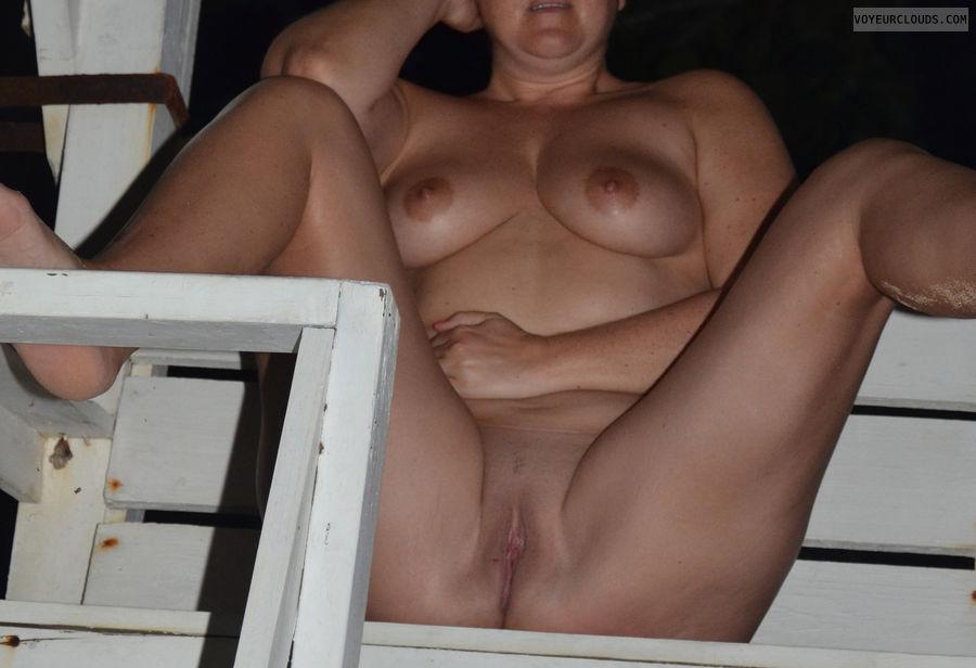 nudist, 36D, big tits, Pussy, beach, shaved