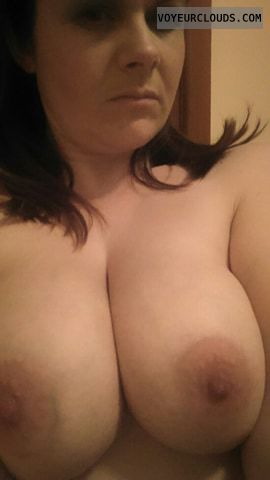 Happy Xmas, topless, big boobs, big tits, hard nipples