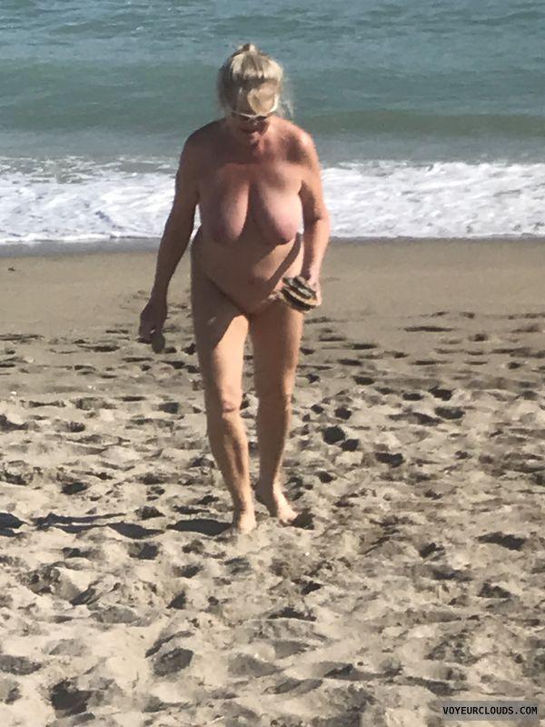 nude, public beach, legs, tits, pussy