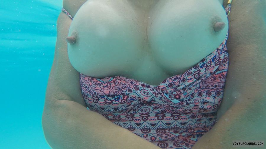 New Year, Tits out, Under water, Long nipples, Big nipples