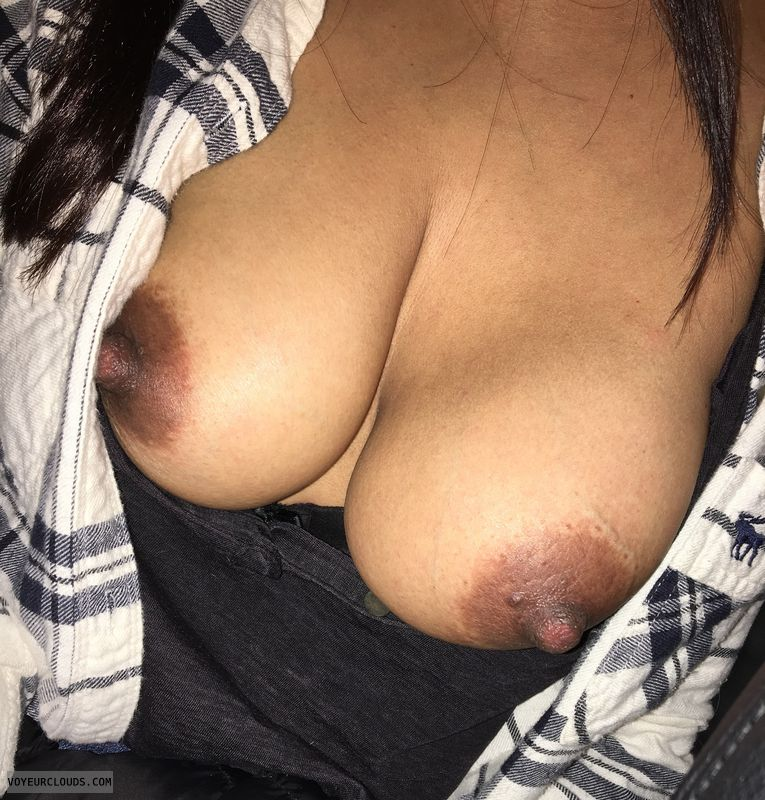 Open shirt selfie