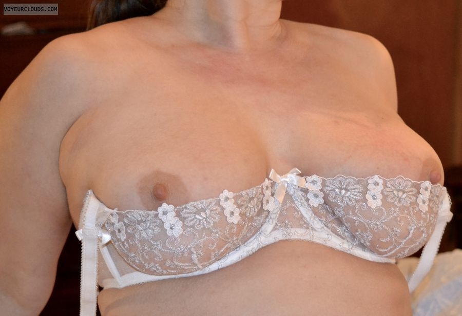 hard nipples, big tits, breasts, nipples, lace bra