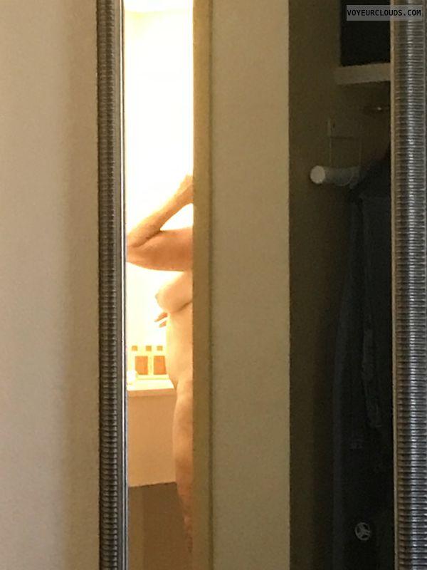 voyeur, shower, tit, breast, nipple