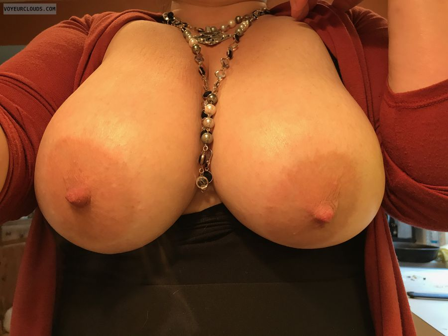 big tits, huge tits, selfie, milf, nipples