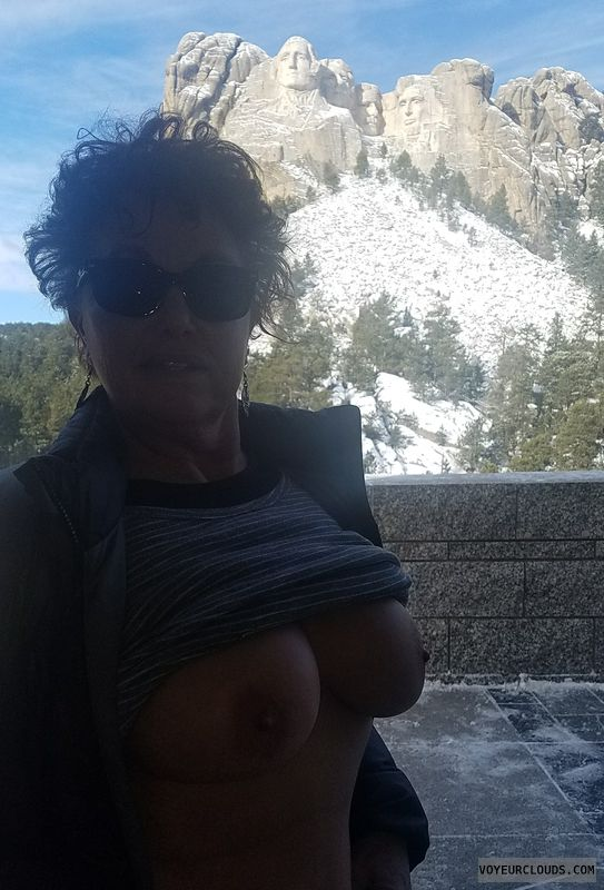 Sexiest tits, flashing tits, hard nipples, braless