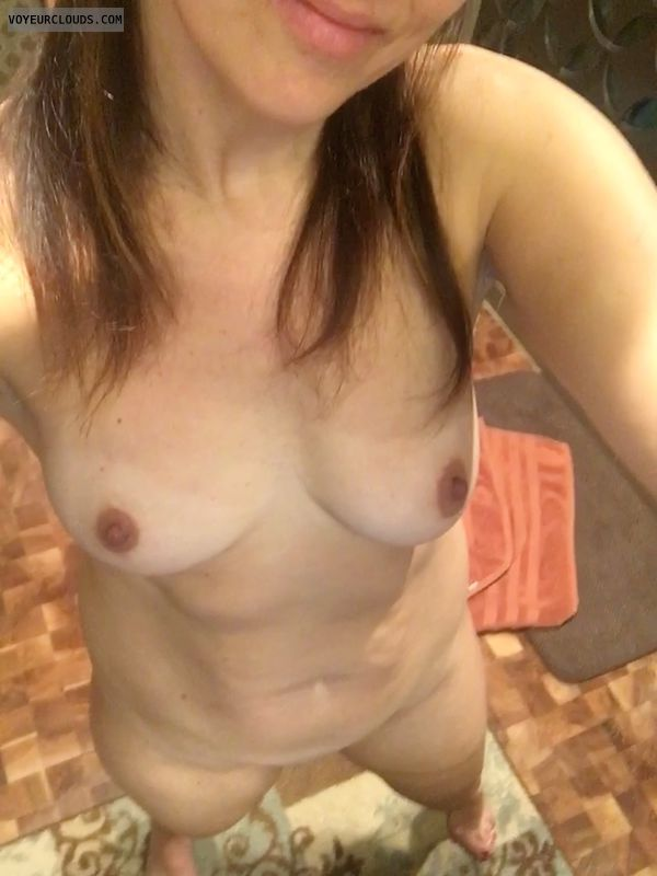 Milf, wife, small tits, nipples, hard nipples, hot wife