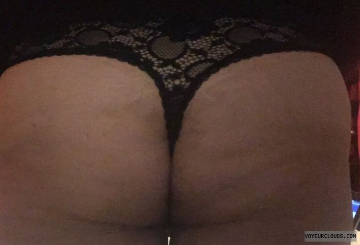 thong, big ass, black thong, lace thong, round ass