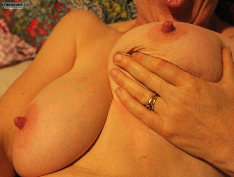 Big tits, nipple licking, erect nipples, big nipples