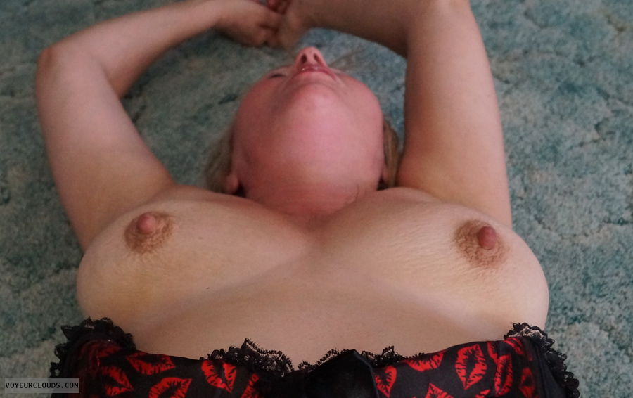 tits, nipples, corrsett, top down, hard nipples