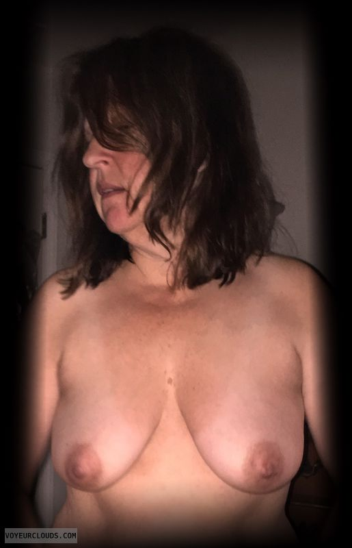 Dark Nipples, Saggy Tits, Mature, Slut, Small tits