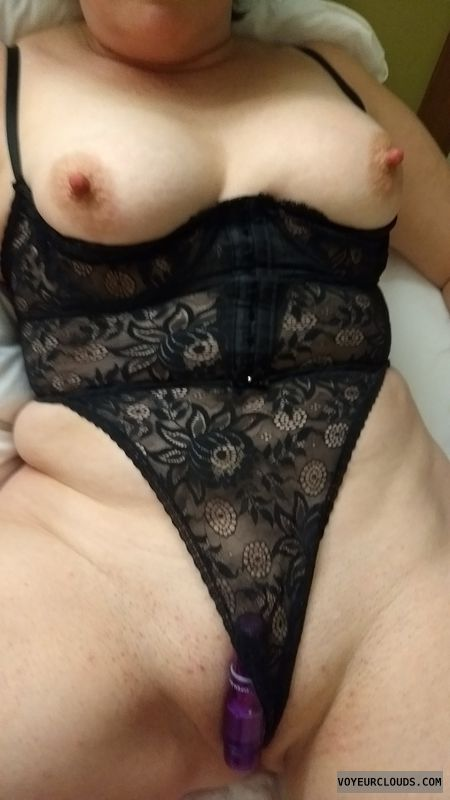 Nipples, vibrator, pocket rocket, breasts, corset
