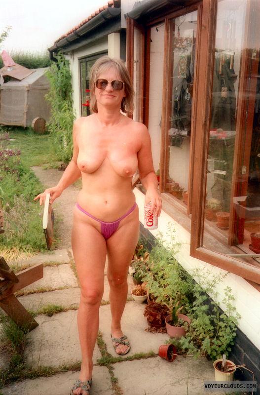 bikini bottom, tits, nipples, yvonne, sunbathing