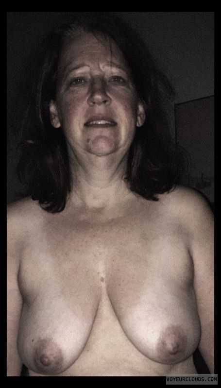 Topless, Wife tits, Nude wife, Slut, Dark Nipples