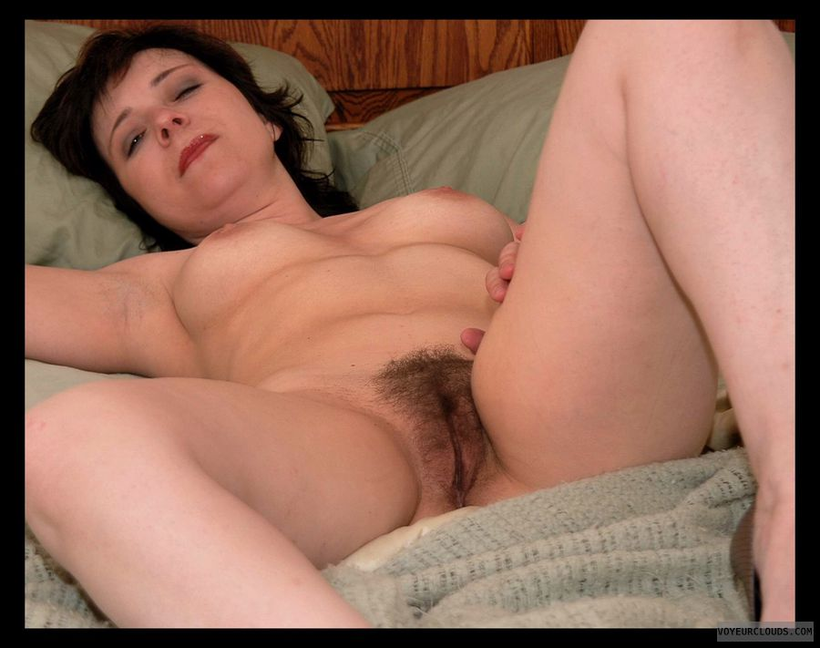 Hairy pussy, Small tits, Bush, Nude wife