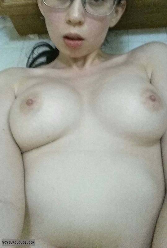hard nipples, big tits, topless, Selfie, amateur, Boobs