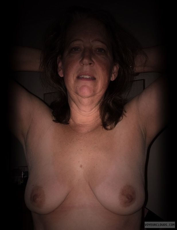 Wife Tits, Topless, Slut, Small Boobs, Dark Nipples