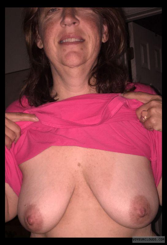 Wife tits, Slut, Small boobs, Whore, Hard nipples