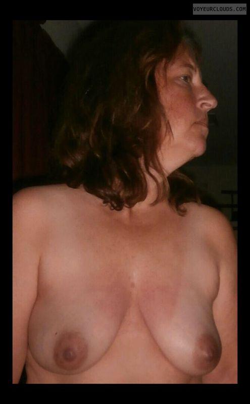 Wife tits, Slut, Dark nipples, Small boobs, Whore