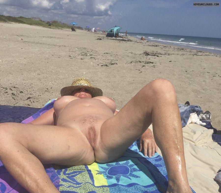 nude, beach, naked, spread, pussy, tits, nipple, legs