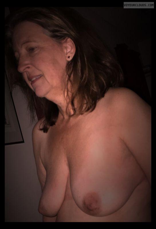 Wife tits, Topless, Hard nipples