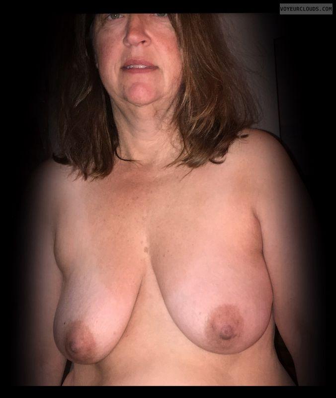 Wife tits, Slut, Topless, Whore, Nude wife, Dark nipples