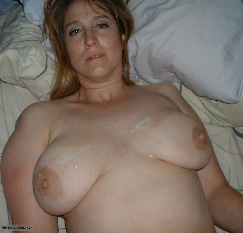 cum on tits, tits, big tits, cum, blowjob, wife, milf