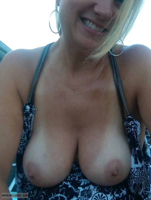 milf, blonde, natural, wife, big tits
