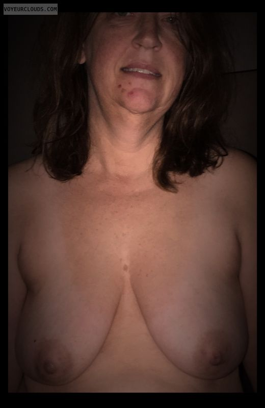 Topless, Wife tits, Mature