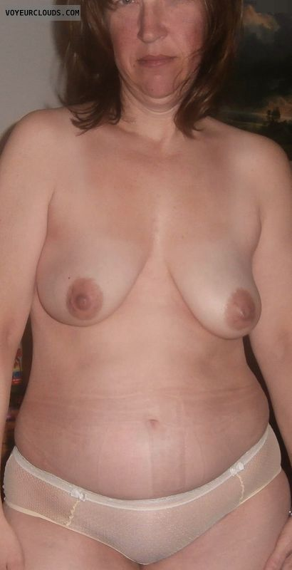 Wife tits, Wide hips, Titflash, Mature, Panties, Topless