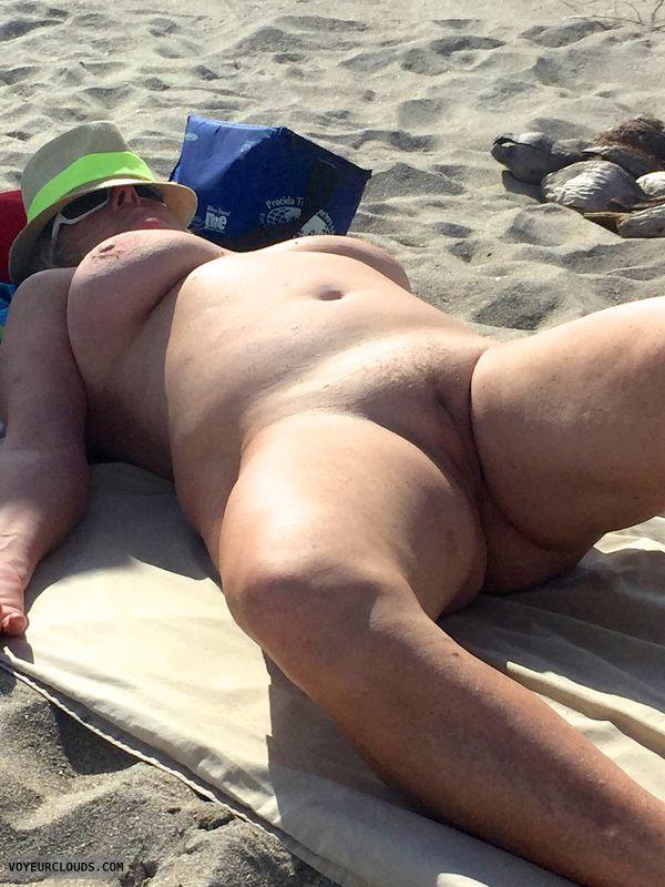 nude, beach, tits, pussy, nipples, spread, legs