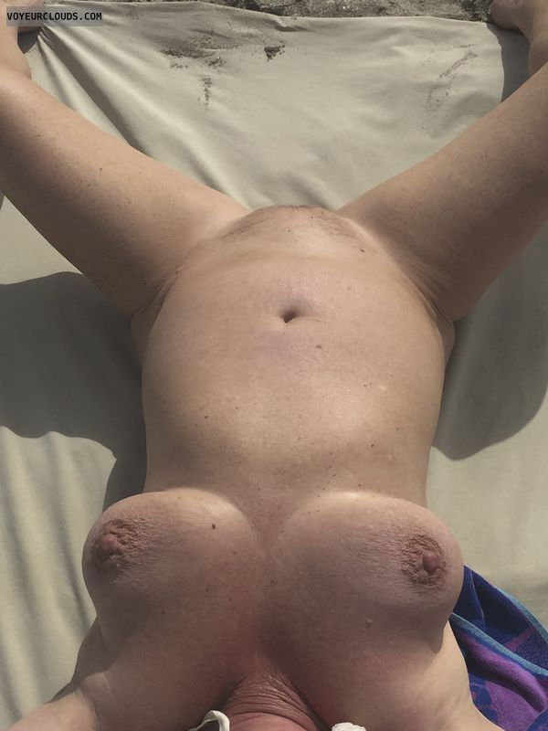 pussy, tits, nipples, breasts, public, beach, spread