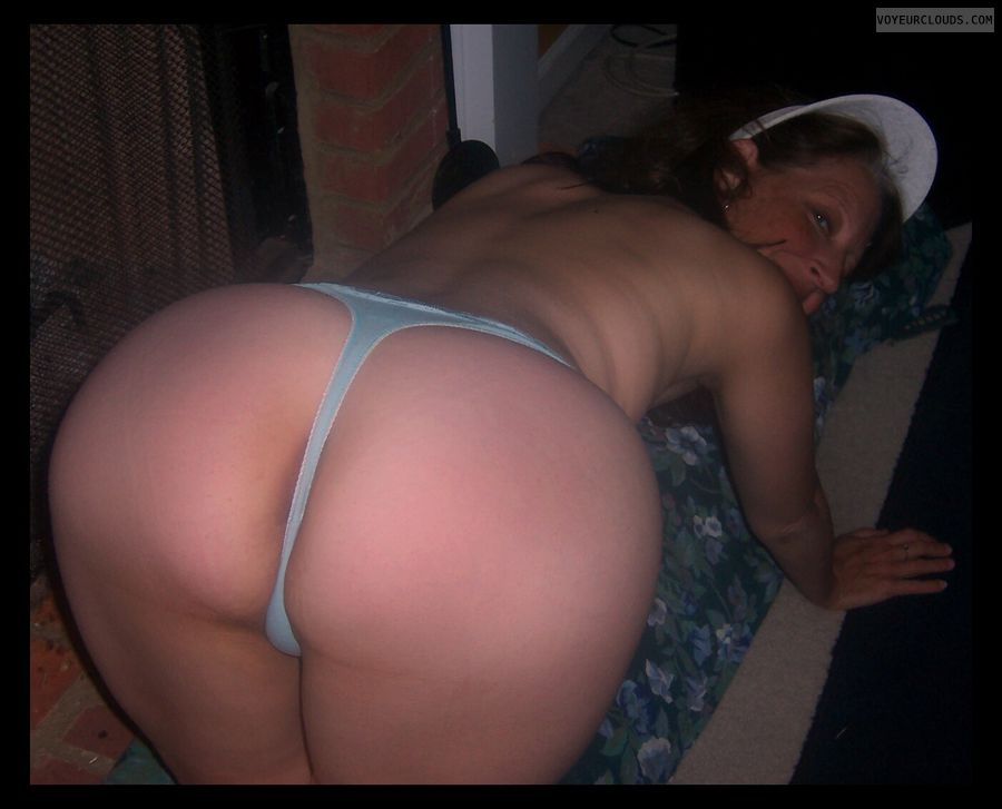 Big Ass, Slut, Large Cheeks, Whore, Thong, Wide hips