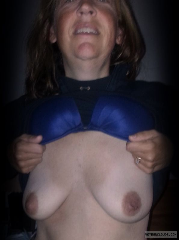 Wife boobs, Tart, Mature, Titflash, Dark nipples, Small boobs