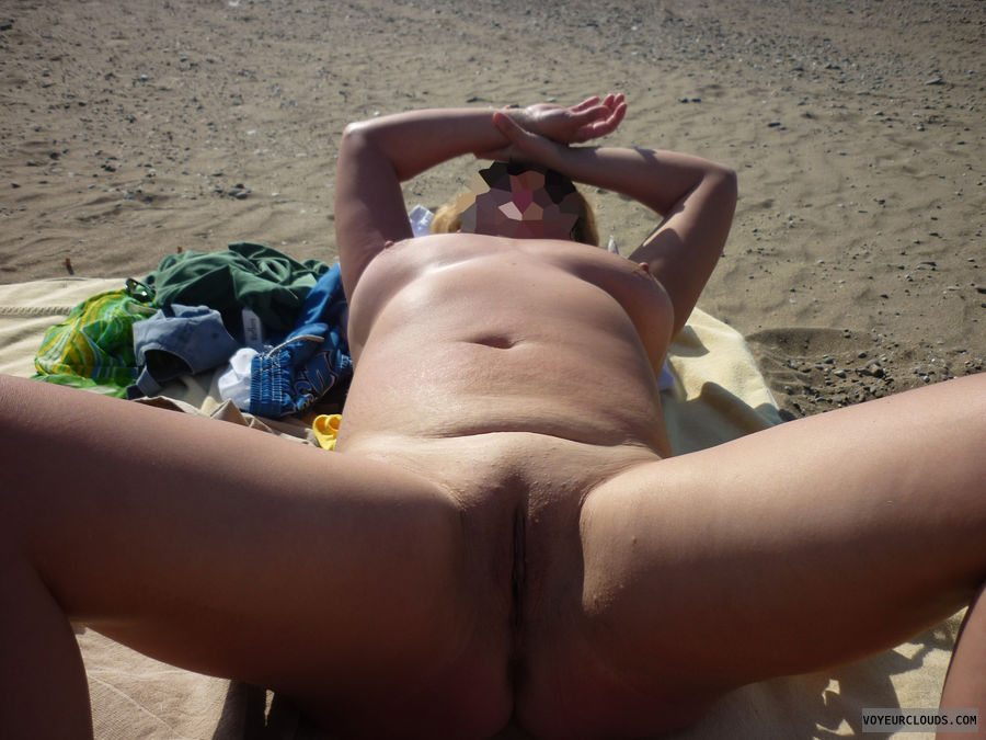 nude, beach, pussy, openlegs, outdoor, exhibition