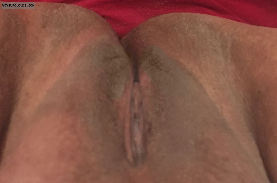 shaved pussy, wet pussy, legs open, dark pussy, freshly shaved
