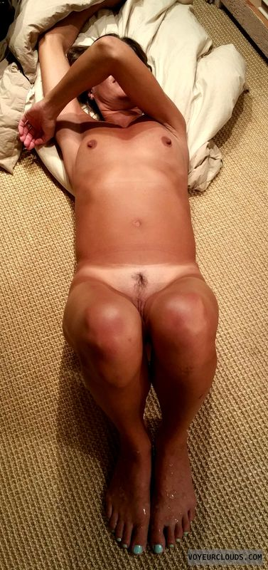 nude Milf, hard nipples, tanlines, small tits, swinger