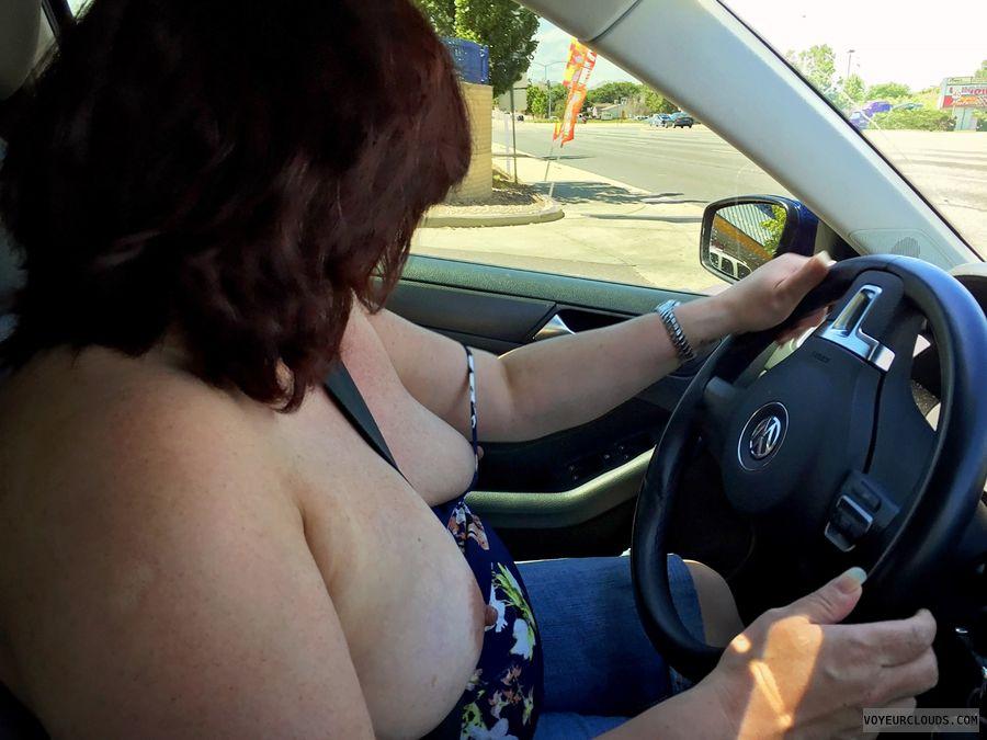 milf Tits, MILF boobs, hard nipples, flashing tits