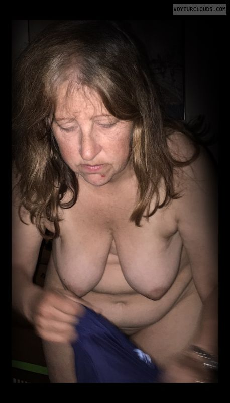 Mature, Little boobs, Topless, Tramp, Hangers, OK