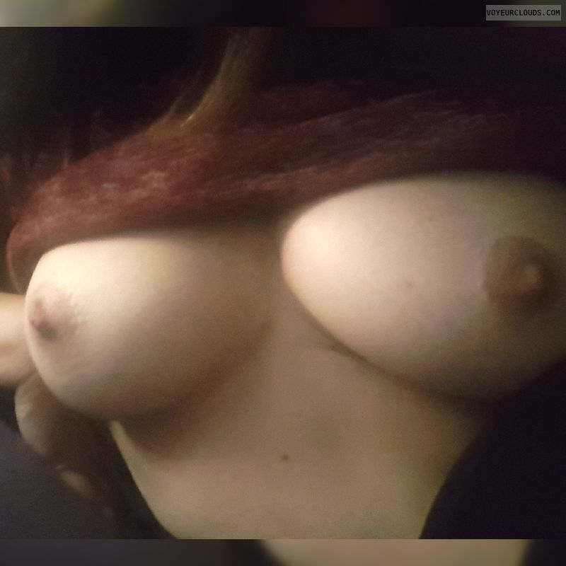 hard nipples, braless, big boobs, big tits