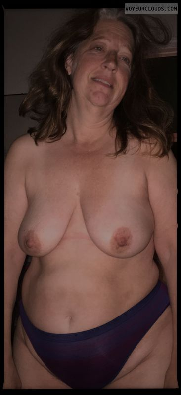 Mature, Tramp, Little boobs, Topless, OK, Saggy tits